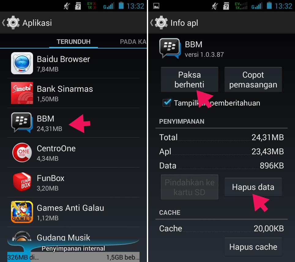 Hapus Data Aplikasi di Smartfren Andromax G2 AD681H