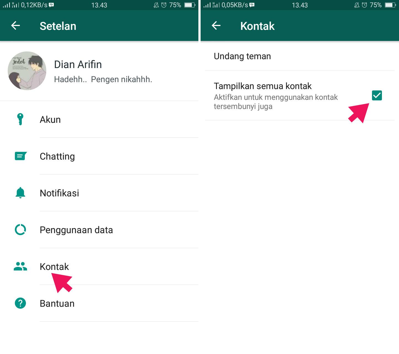 Tampilkan Semua Kontak di WhatsApp