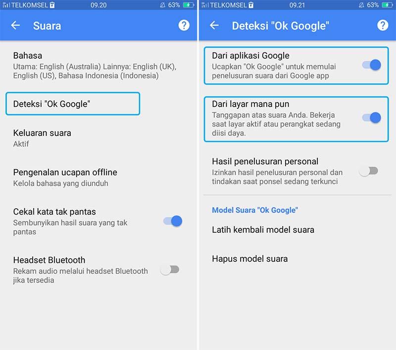 Cara Mengatur Ok Google Android 4