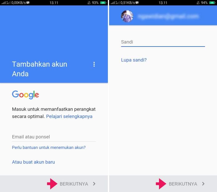 Tambahkan Akun Gmail di Android