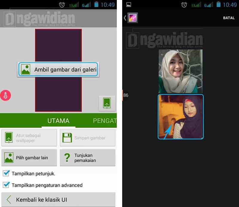 Mengganti Wallpaper Android