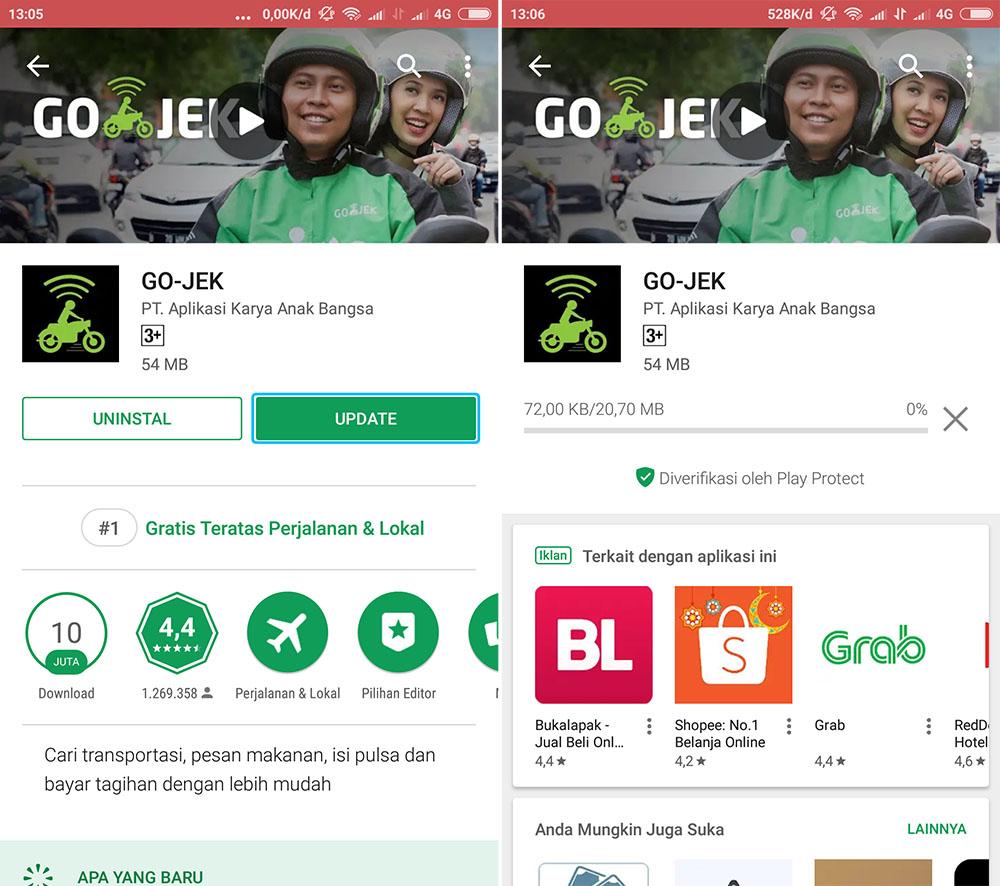 Update Aplikasi GO-JEK