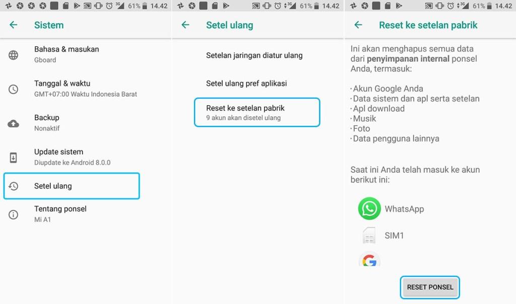 Factory Reset Xiaomi Mi A1