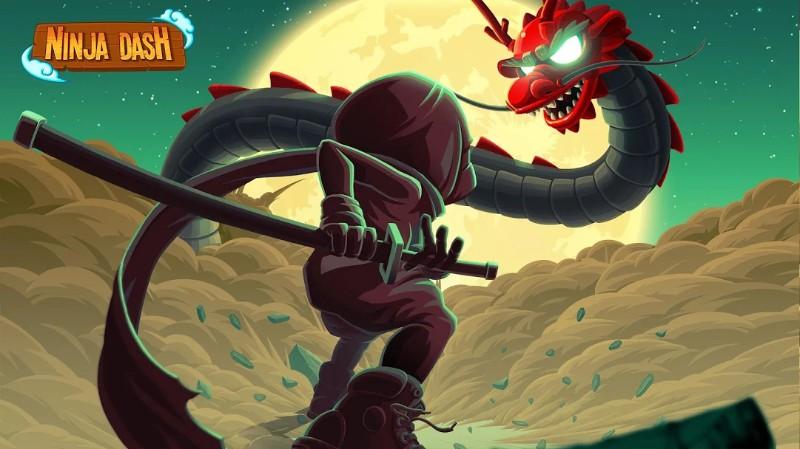 Ninja Dash - Ronin Shinobi Lari, lompat dan tebas