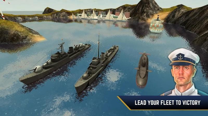 Enemy Waters Kapal selam dan kapal perang