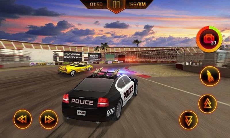 Mengejar Mobil Polisi