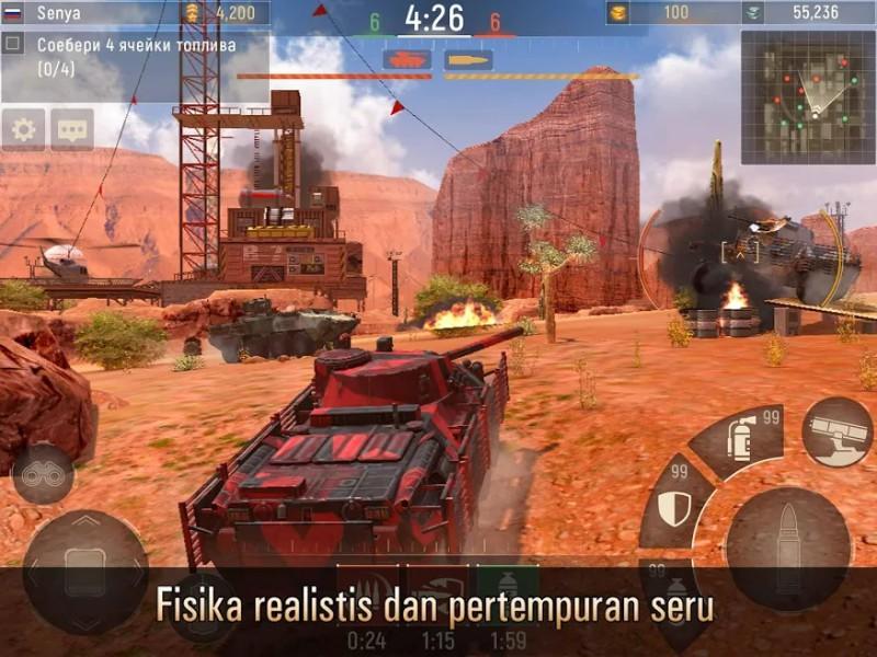 Metal Force Game Tank