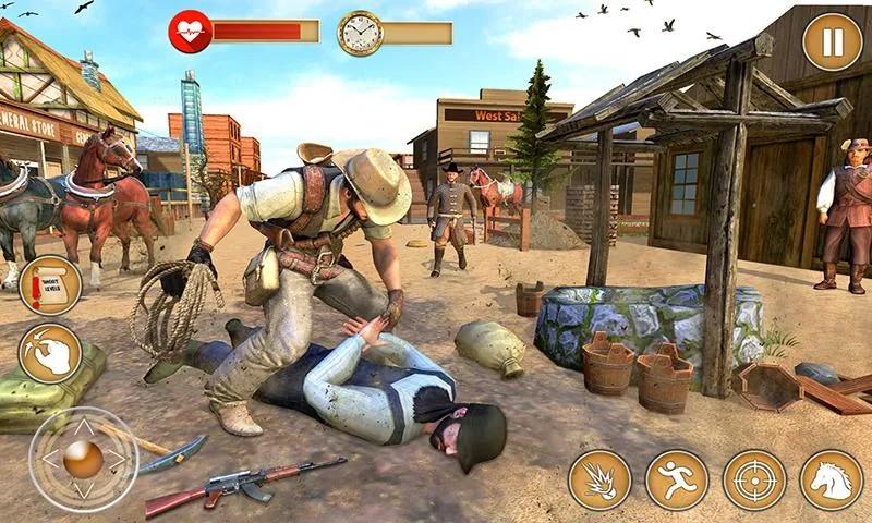 Western Cowboy Gun Shooting Fighter Open World