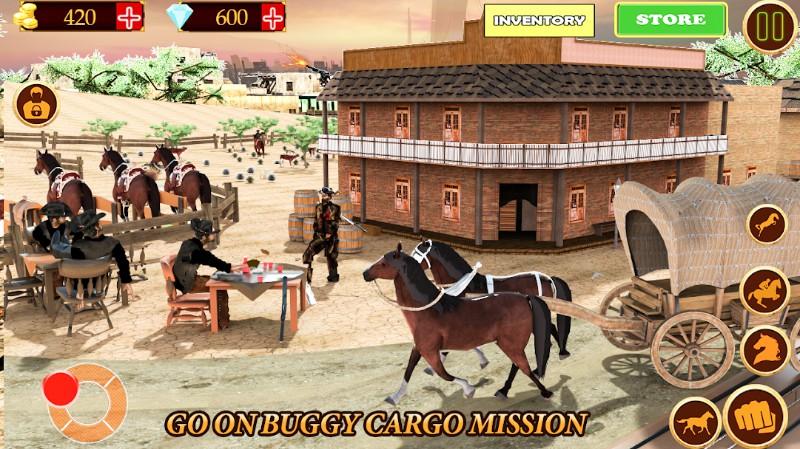 Wild West Town Gunfighter- Open World Cowboy Games
