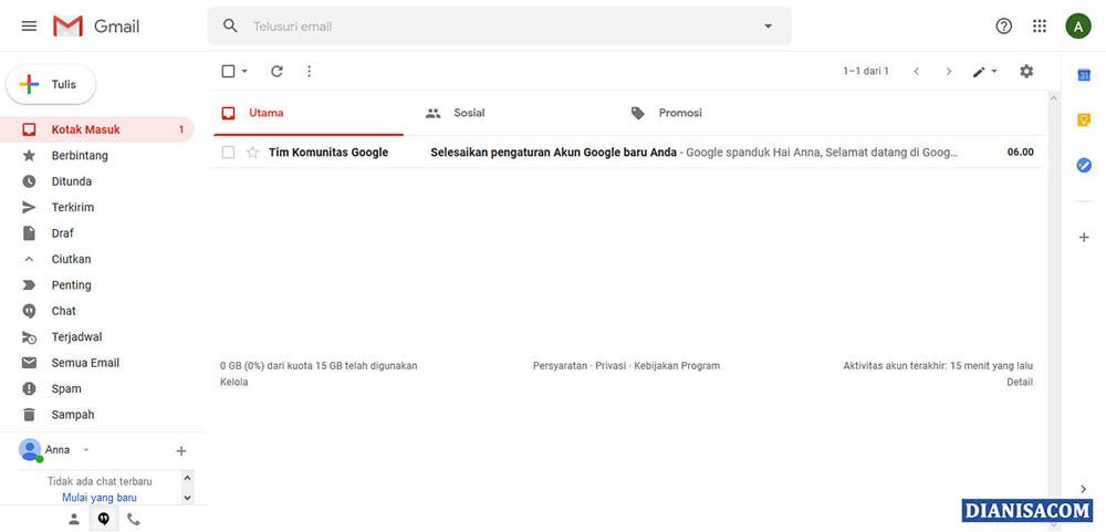 1. Mengenal Menu Gmail