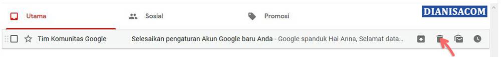 1. Menghapus Pesan Email
