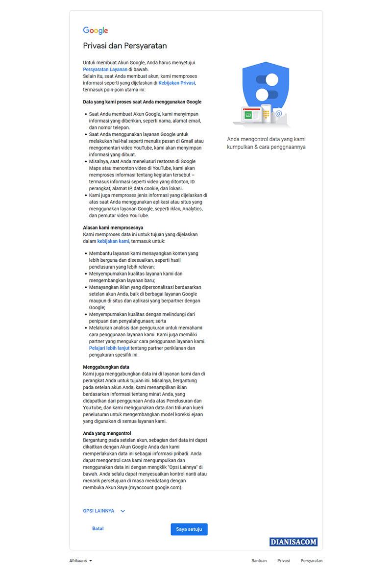 7. Daftar Akun Gmail di Android