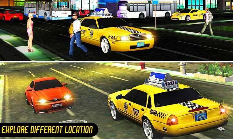 Crazy Taxi Car Driver Duty
