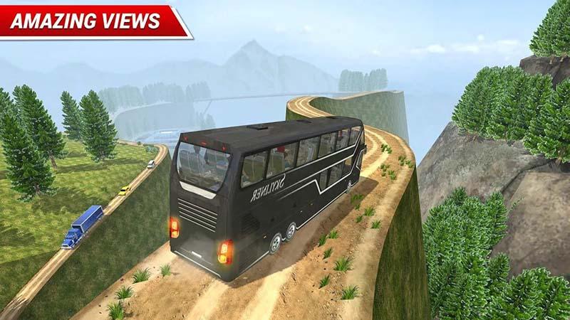 Dari jalan Bis Transportasi Simulator