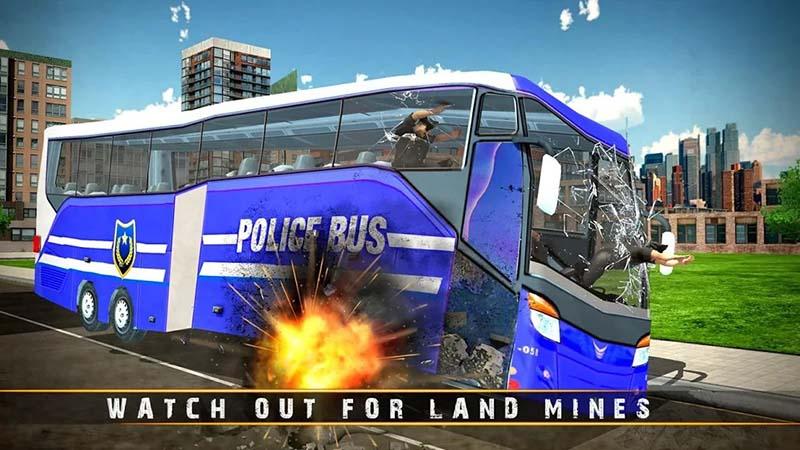 Polisi Bus Driving permainan