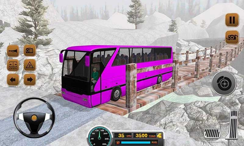 Up Hill Bus Training Drive Simulator 2018