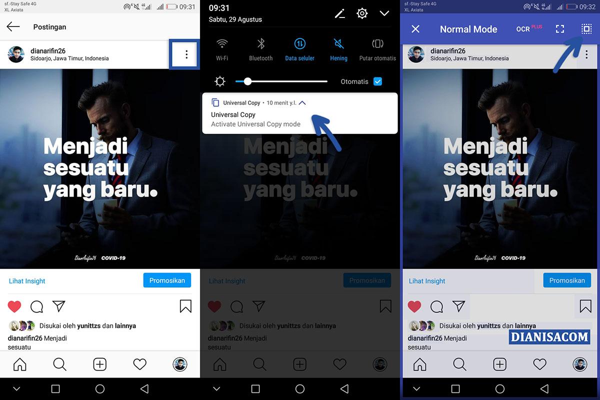 2 Salin Caption Instagram Universal Copy