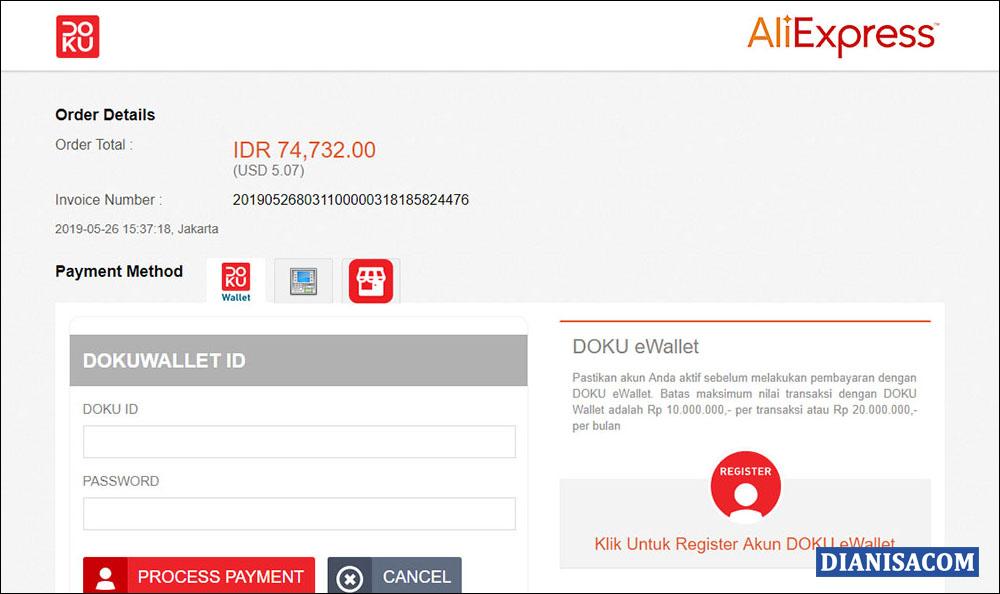 11 Laman Pembayaran Doku di AliExpress