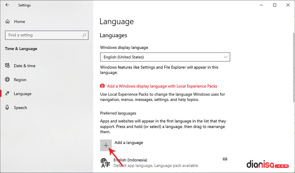 2. Mengganti Bahasa Default Windows