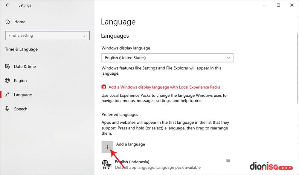 2. Mengganti Bahasa Default Windows