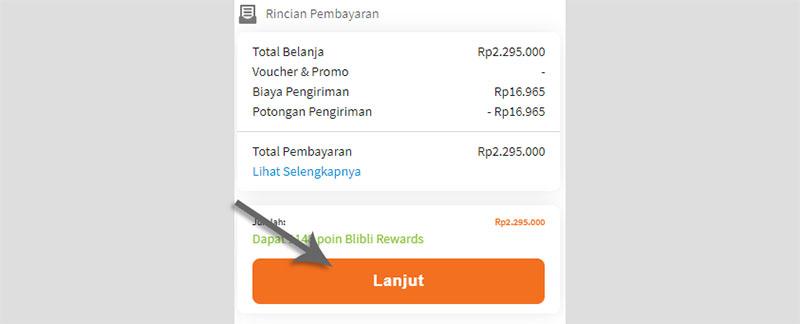 6. Rincian Pembayaran di Blibli