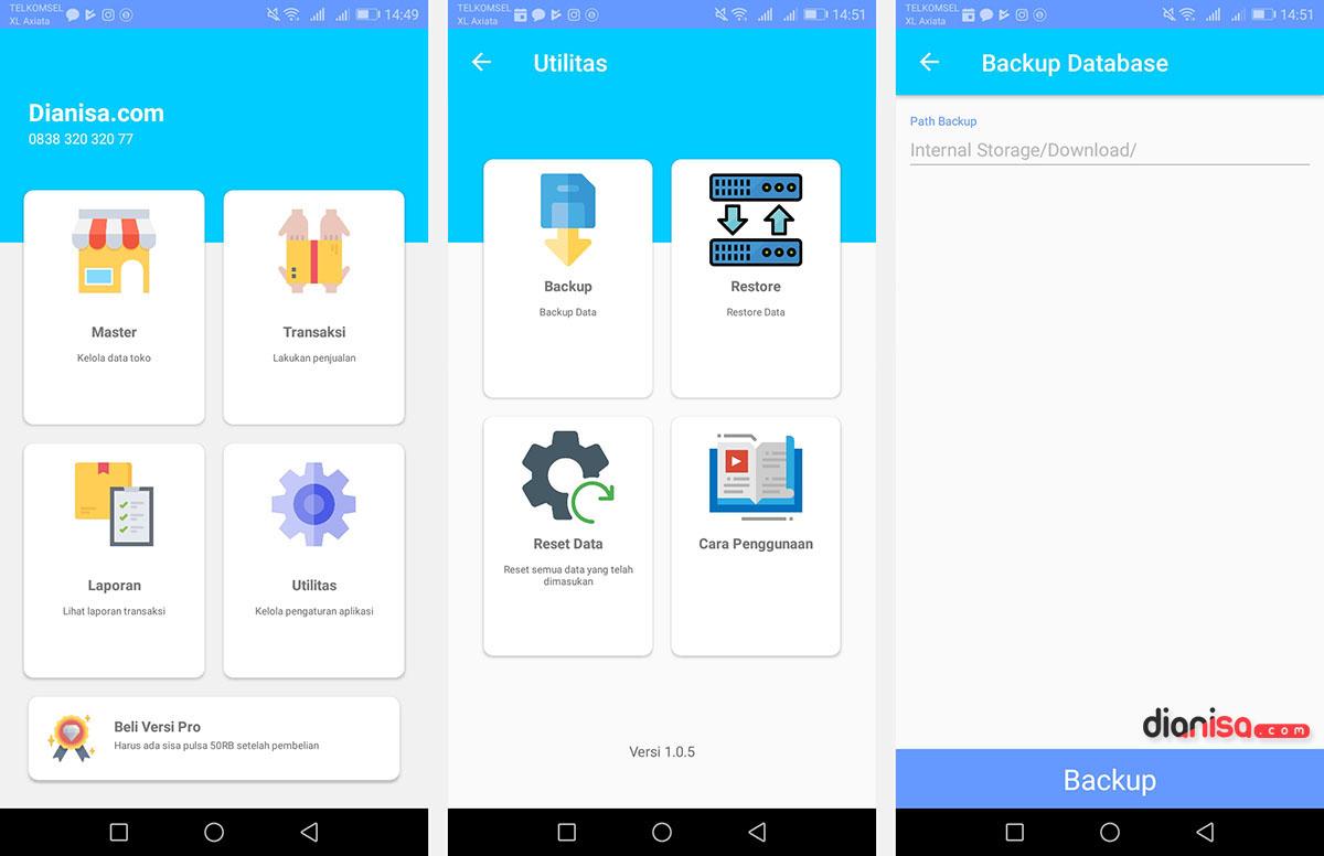 Fitur Utilitas Aplikasi Kasir Konter HP