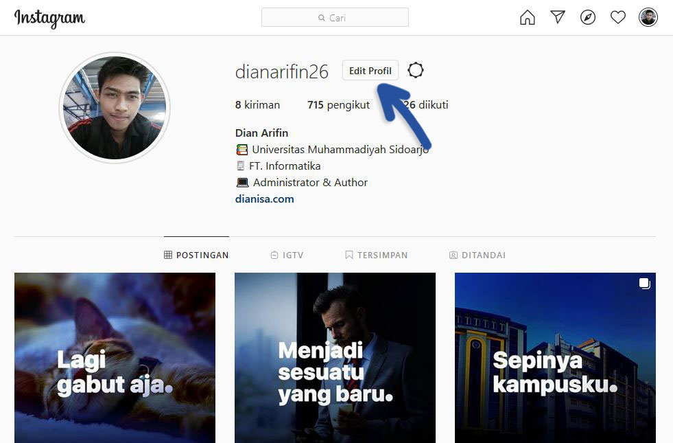 1 Edit Profil Instagram Browser
