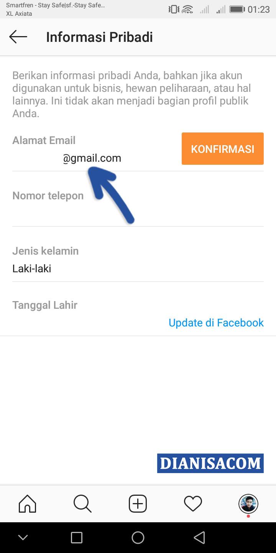 3 Ganti Email Instagram