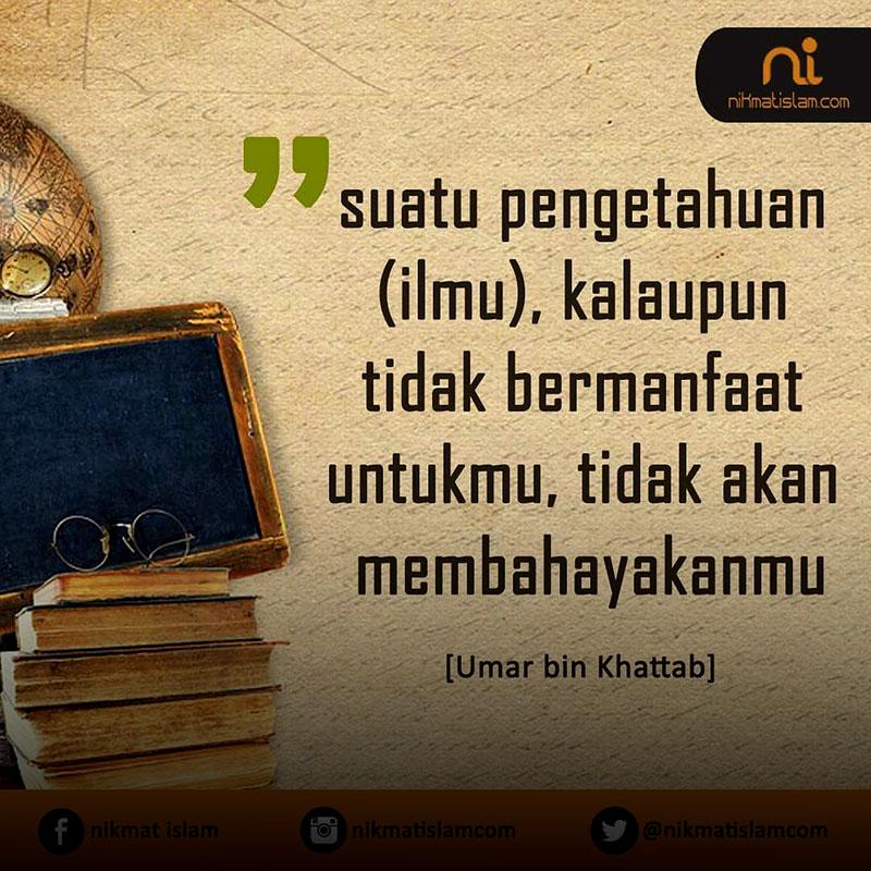 Kutipan Umar Bin Khattab Tentang Ilmu