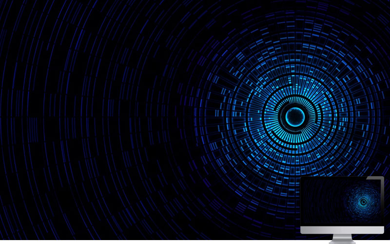 #13. Abstraction Passage Light Black Blue