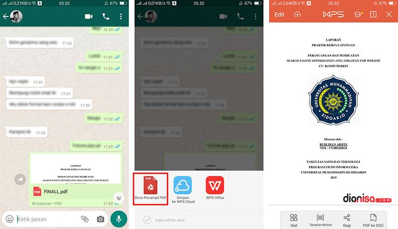 Cara Membuka File Docx di WhatsApp