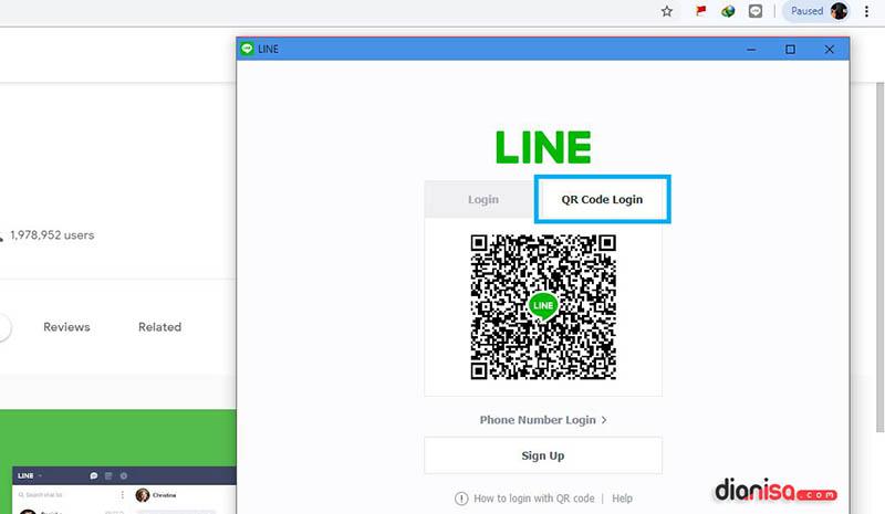 Login LINE PC tanpa Aplikasi