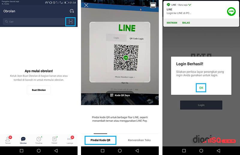 Login LINE tanpa Aplikasi