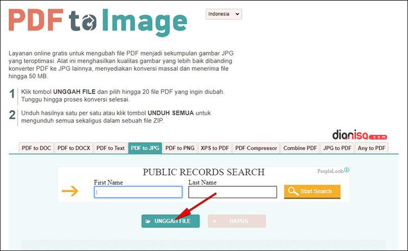 PDF ke JPG - PDFtoImage
