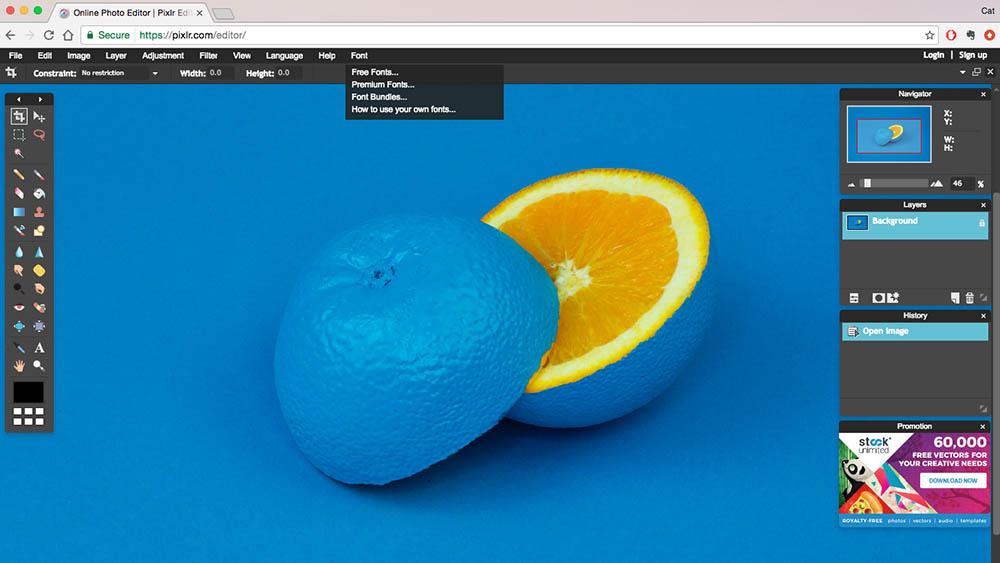 Pixlr Web App