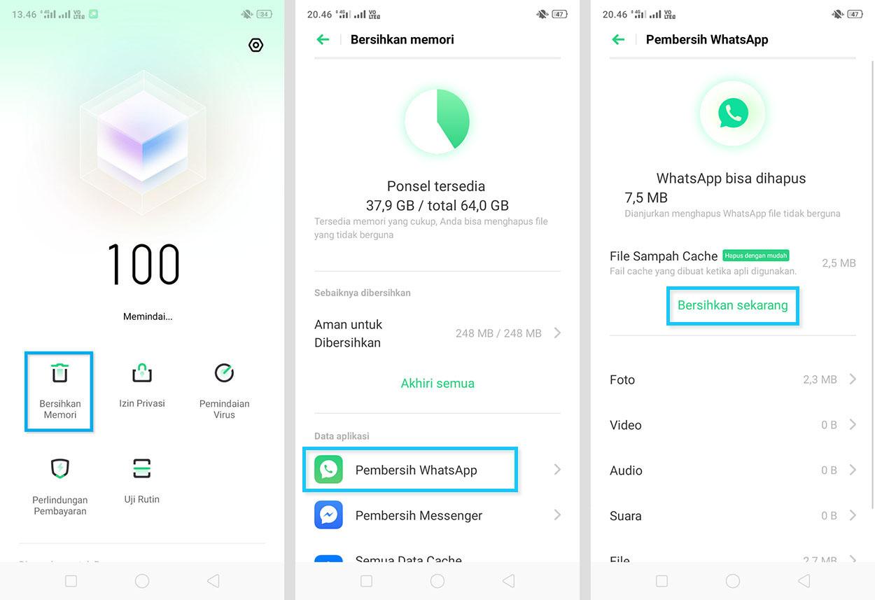 Gunakan Aplikasi Pembersih WhatsApp