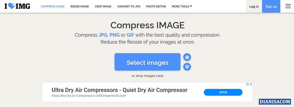 1 Kompres Foto Online iLOVEIMG