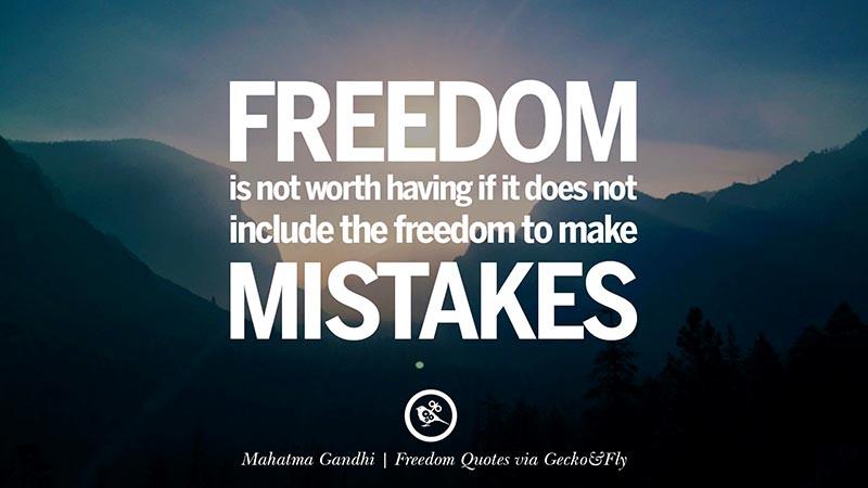 Quotes Kebebasan dalam Bahasa Inggris