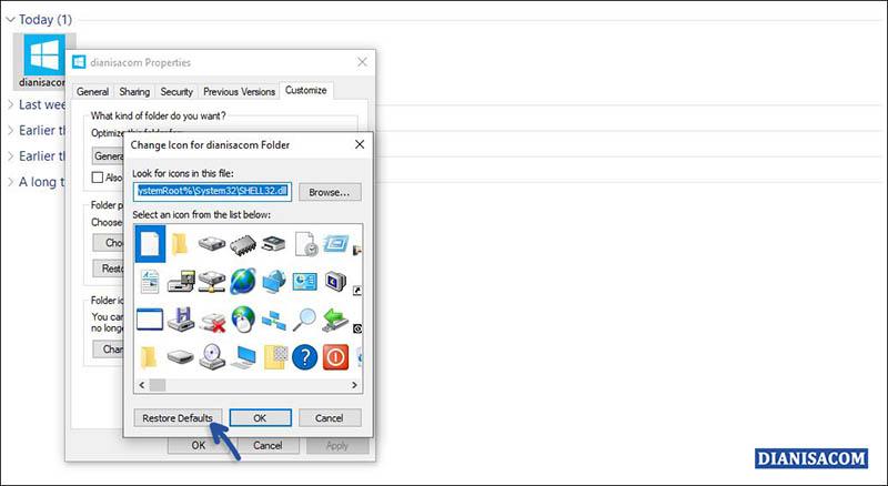 1 Mengembalikan Icon Folder seperti semula