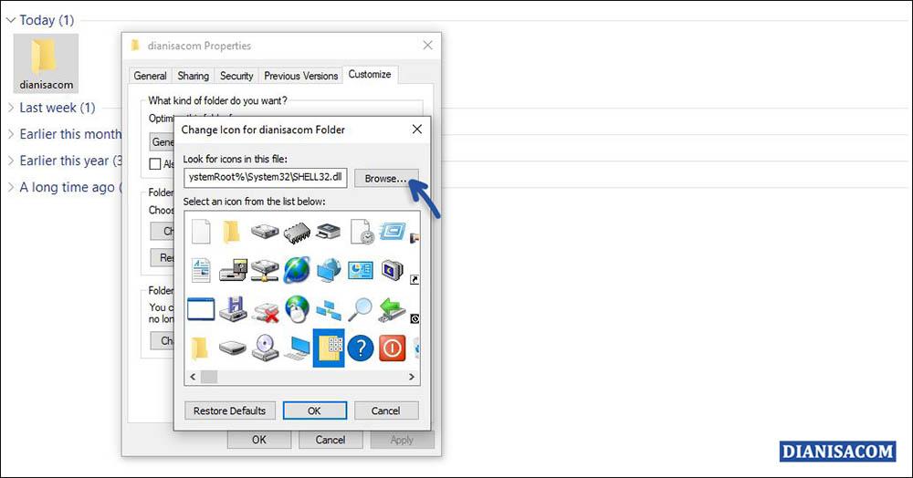1 Mengganti Icon Folder dengan Gambar Sendiri