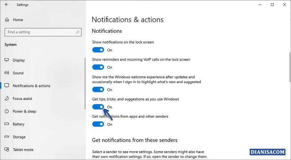 2 Menghilangkan Notifikasi Iklan Windows 10