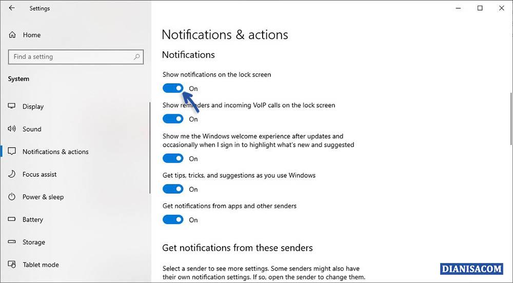 2 Menghilangkan Notifikasi Saat Lock Screen Windows 10