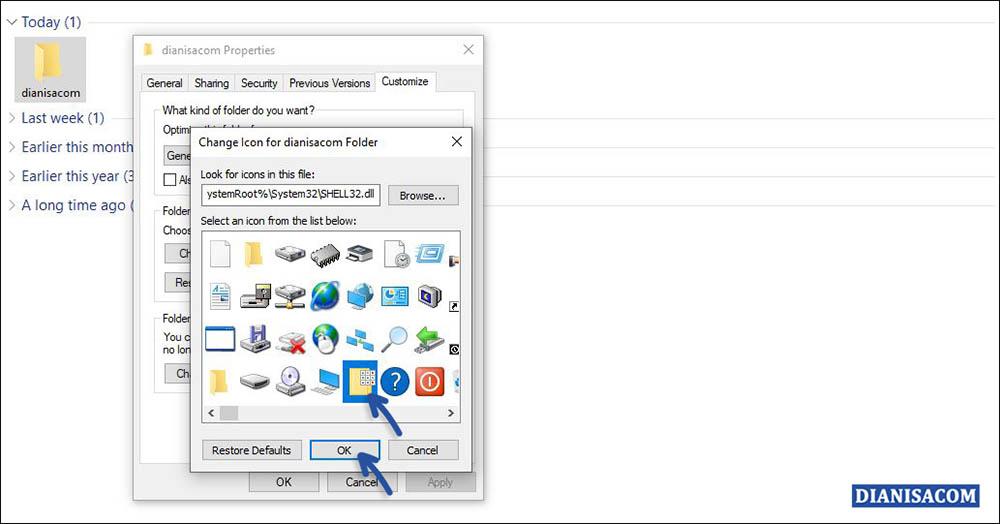 3 Ganti Icon Folder Windows 10