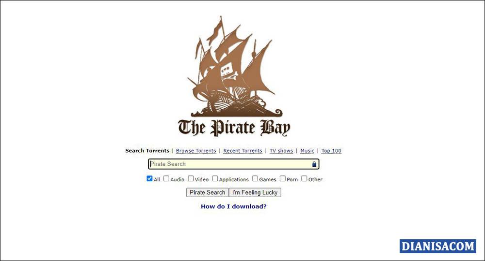 3 Halaman Pencarian awal The Pirates Bay