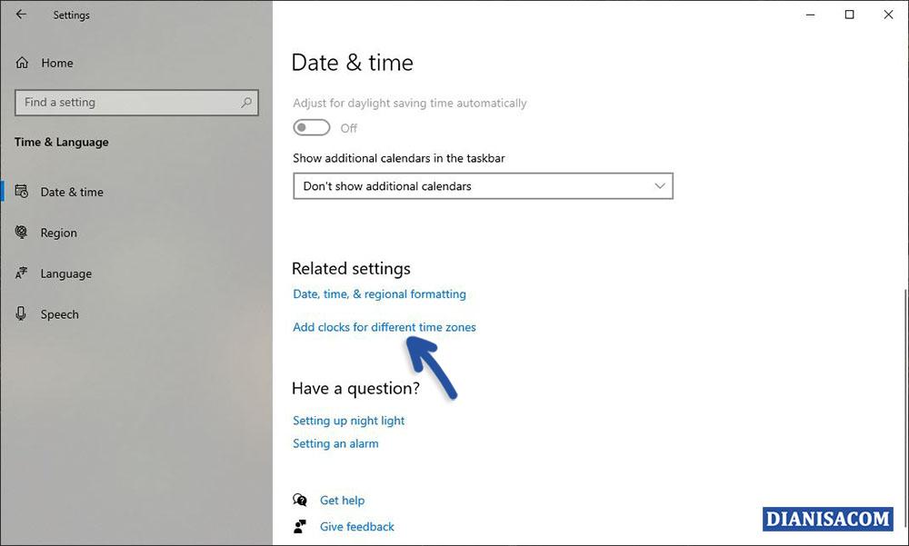 1 Menambahkan Tanggal dan Waktu Windows 10