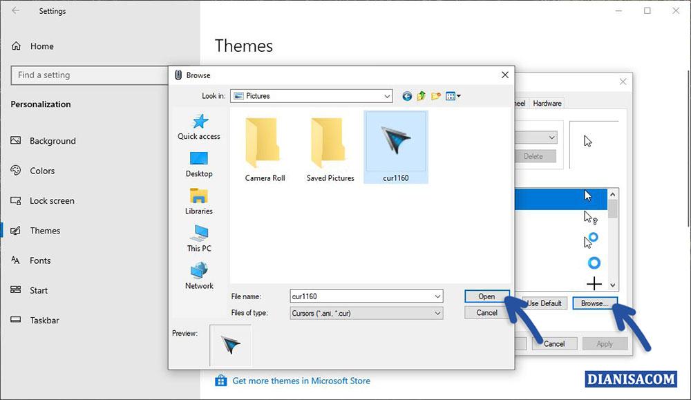 1 Mengganti Kursor Windows 10 Sendiri