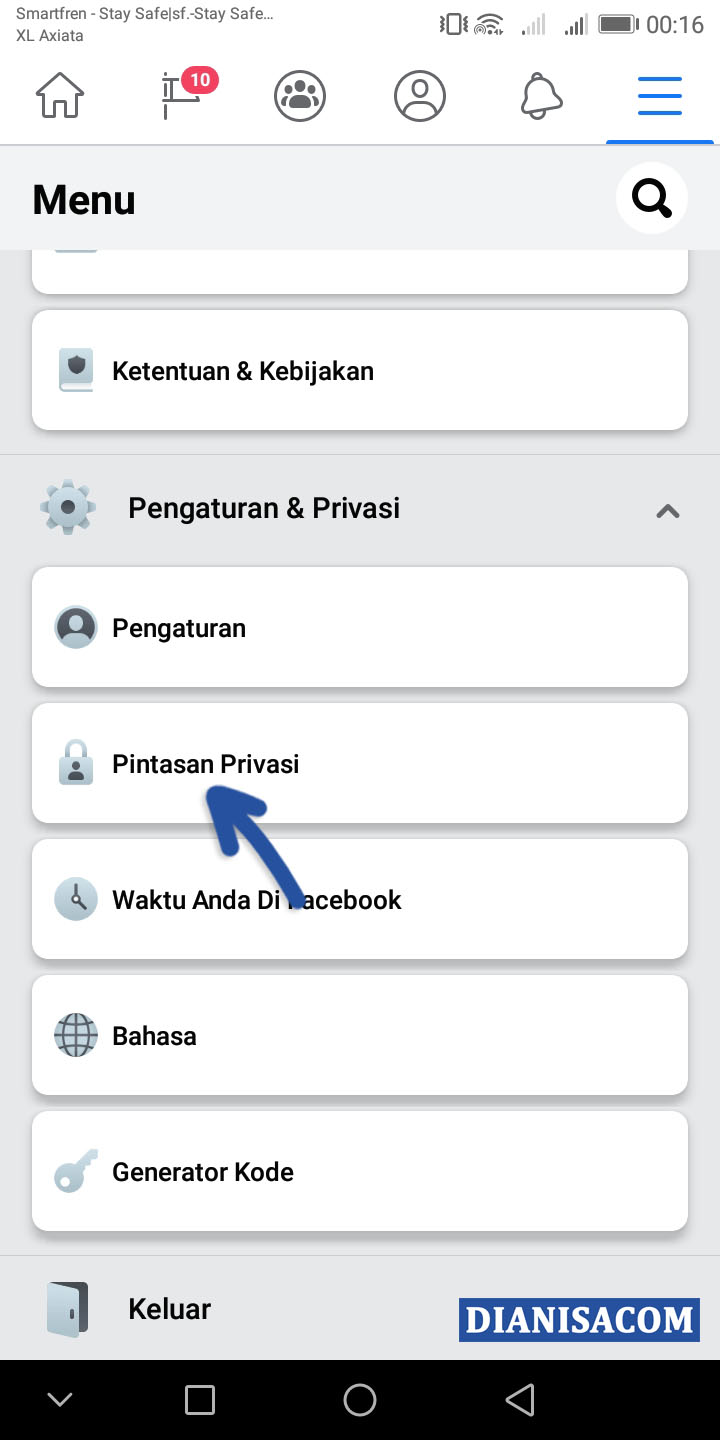 1 Pintasan Privasi Facebook