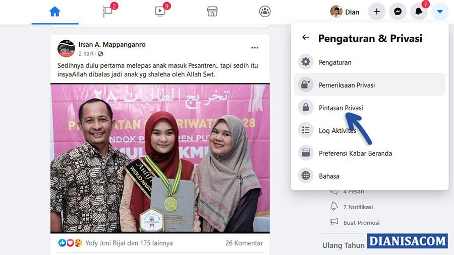 2 Pintasan Privasi Facebook Browser