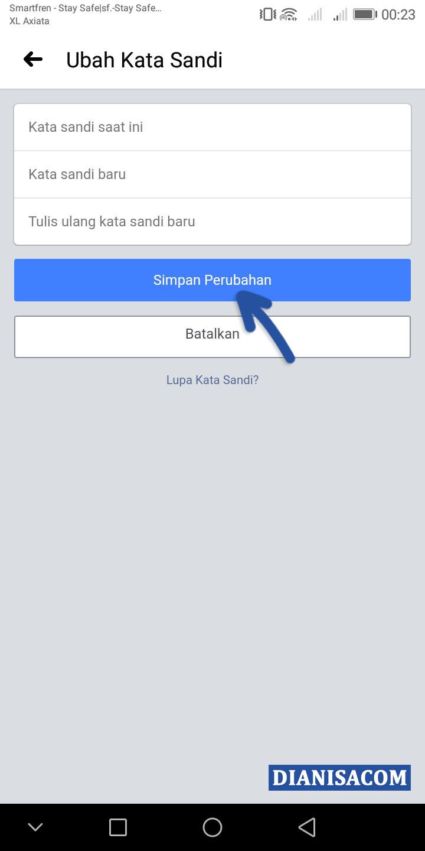 3 Buat Kata Sandi Baru Facebook